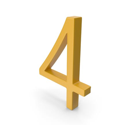 Number 4 Yellow