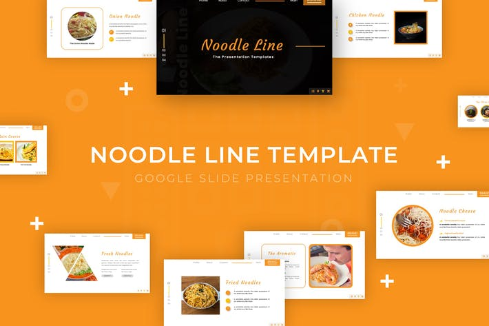 Thumbnail for Noodle Line - Google Slide Template