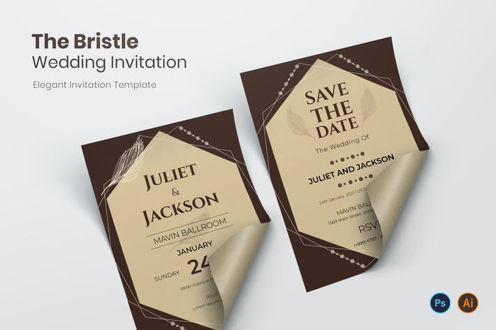 Thumbnail for The Bristle Wedding Invitation