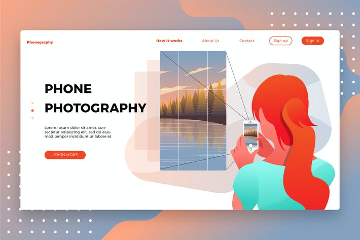 Thumbnail for Photography Phone-Banner & Landing Page