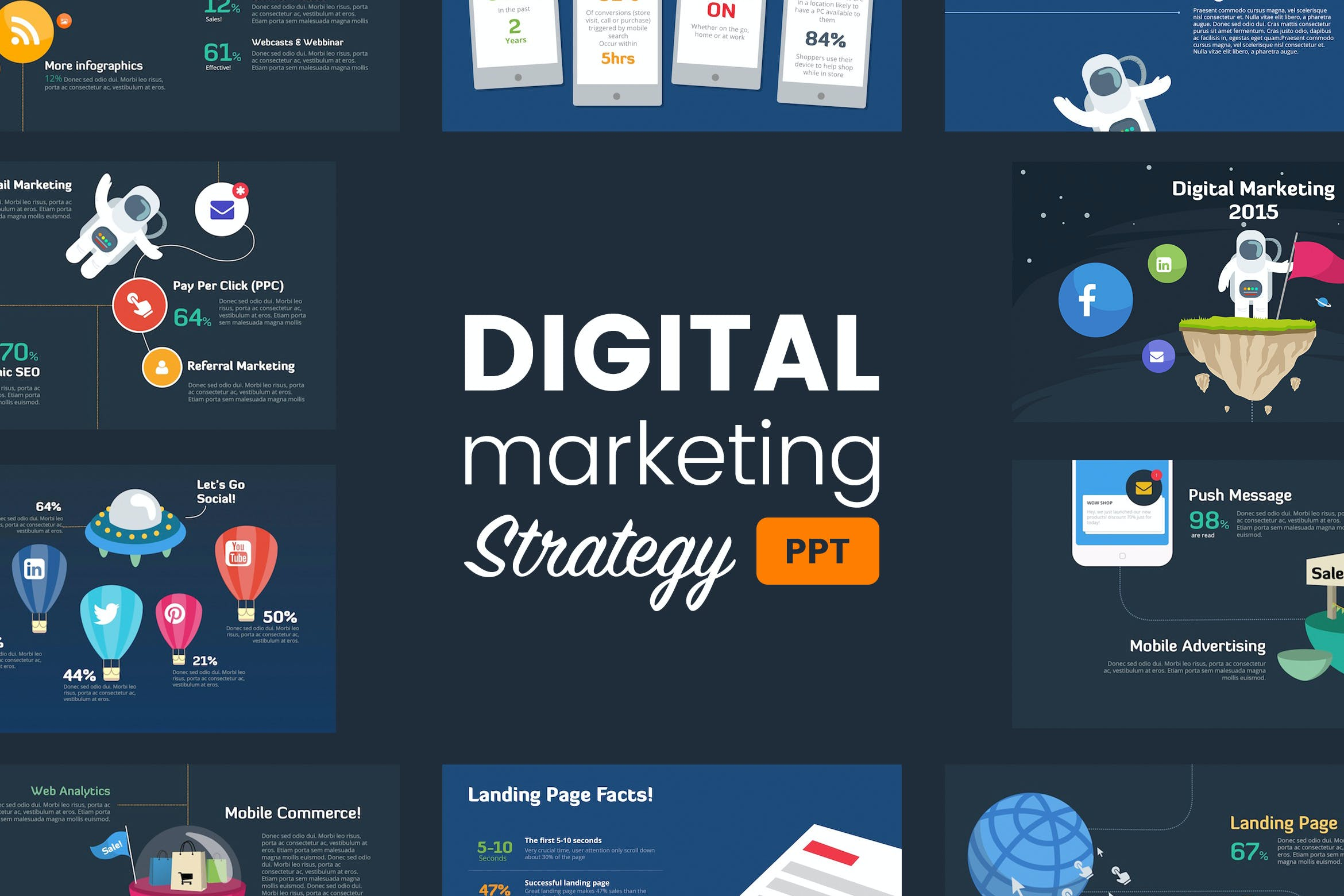 Digital Marketing Strategy - Powerpoint Template [Free Download] SEO Graphic Bundle – Graphics dành cho nghề SEO