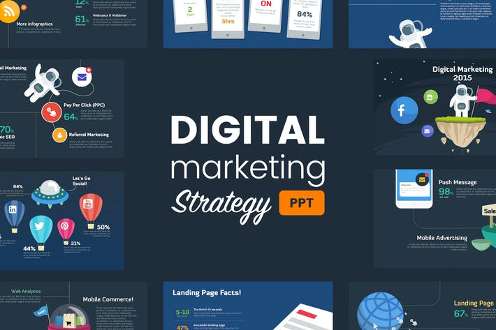 Digital Marketing Strategy Powerpoint Template By Slidehack On