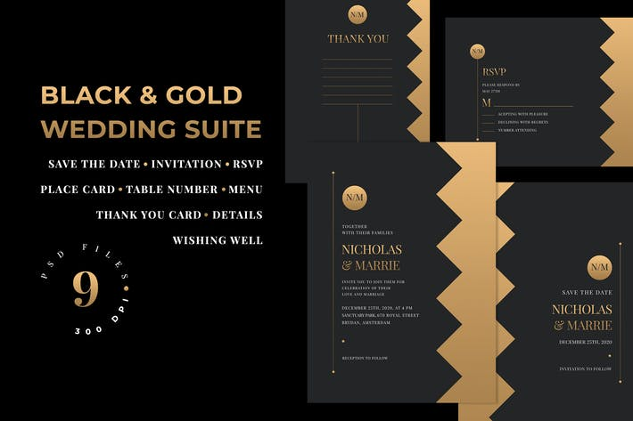 Thumbnail for Black & Gold Wedding Suite