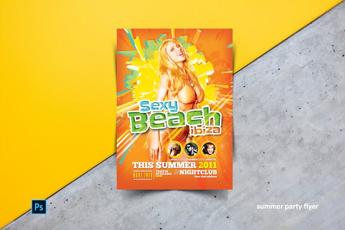 Thumbnail for Summer Party Flyer Template
