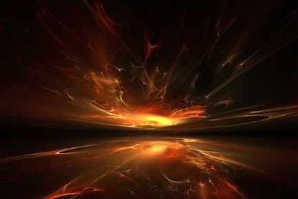 fire fractal horizon