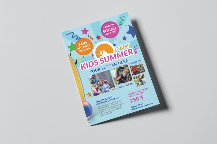 Thumbnail for Kids Summer Camp/ A5 Brochure Template