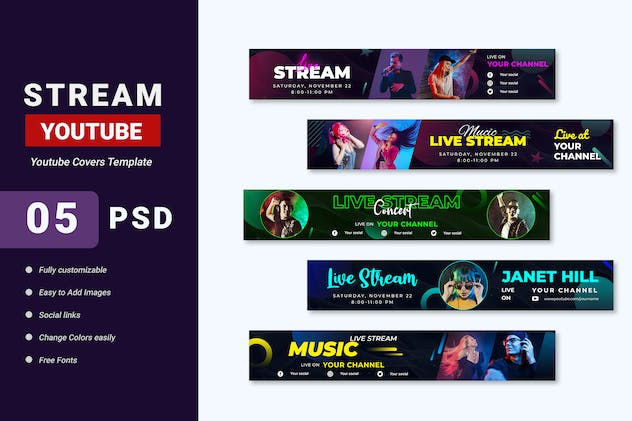 Promotion Youtube Covers Template