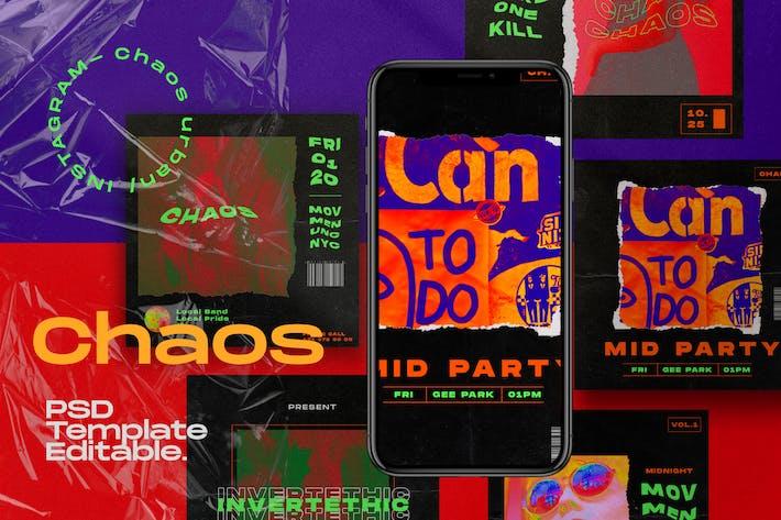 CHAOS - Kit de médias sociaux Instagram