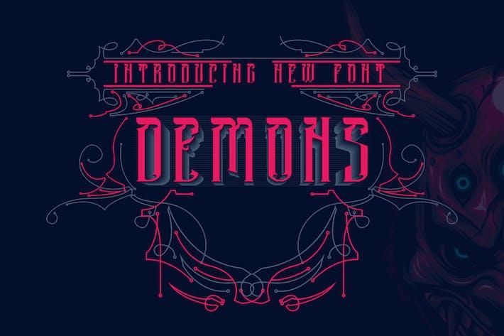 Thumbnail for DEMONS - Letra Negra