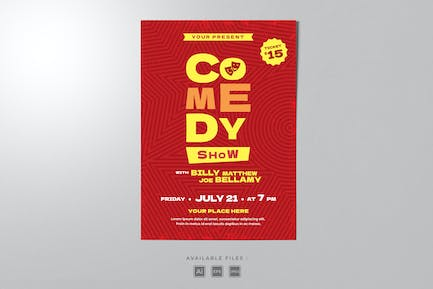 Comedy Show Poster