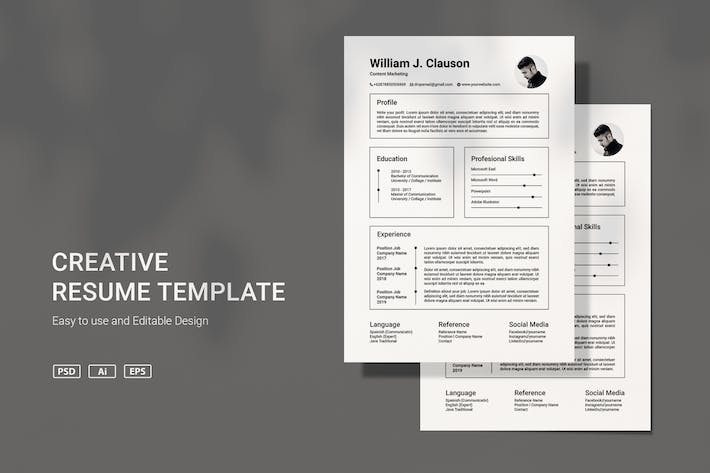 Thumbnail for VDN Resume template v3.9