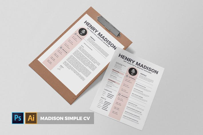 Thumbnail for Medison Simple | CV & Resume