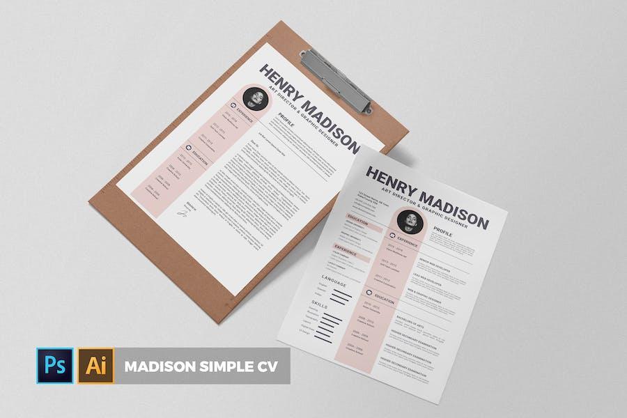 Medison Simple | CV & Resume