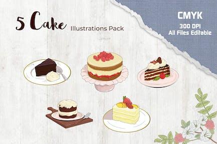 Ilustración de pastel