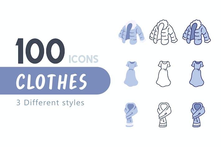Thumbnail for 100 Clothes icon set
