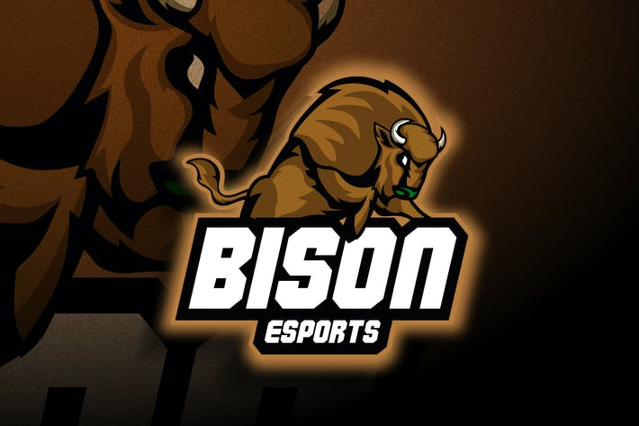 Thumbnail for Bison Esports - Mascot & Esport Logo