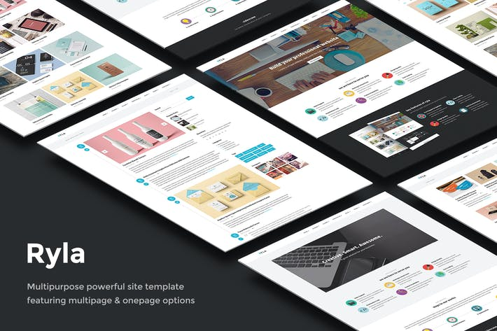 Cover Image For Ryla - Multipurpose Single/Multi Page Template