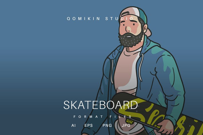Thumbnail for Skateboard Illustration