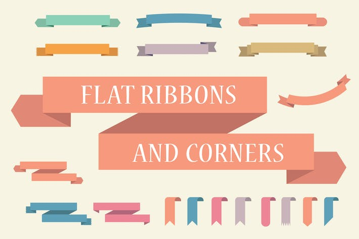 Thumbnail for Flat banners (ribbons) collection