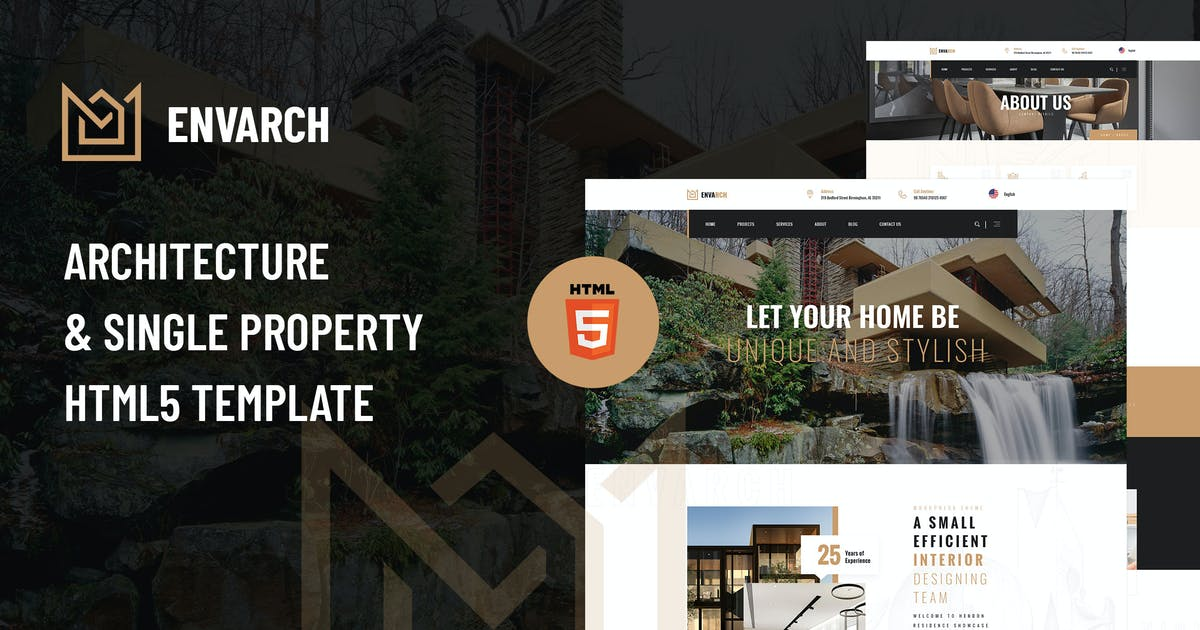 Download EnvArch - Architecture and Property HTML5 Template by envalab