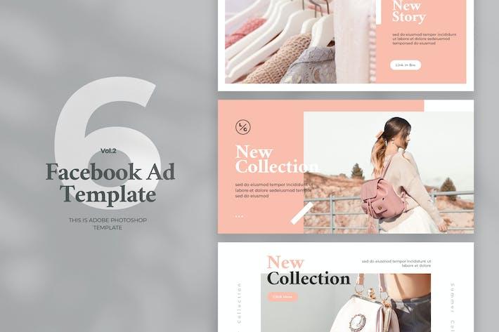 Thumbnail for Modèle d'annonce Facebook Vol.2