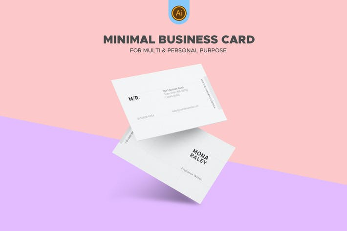 Thumbnail for Clean Freelance Writer Business Card