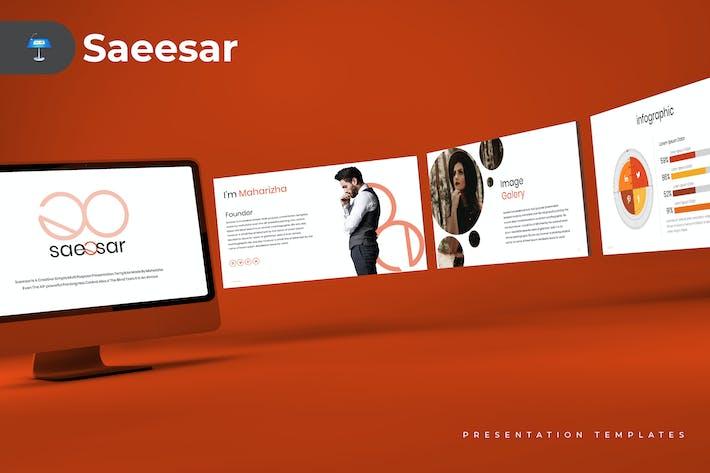 Thumbnail for Saeesar - Keynote Template