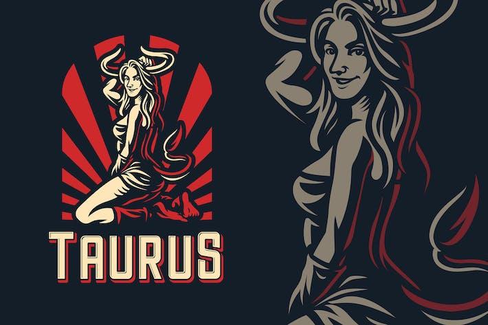Thumbnail for Taurus Zodiac Sign Logo Template
