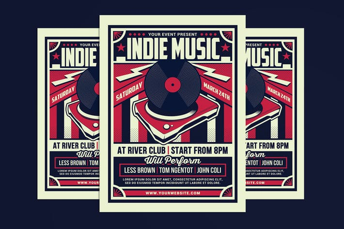 Thumbnail for Indie Music Retro Flyer