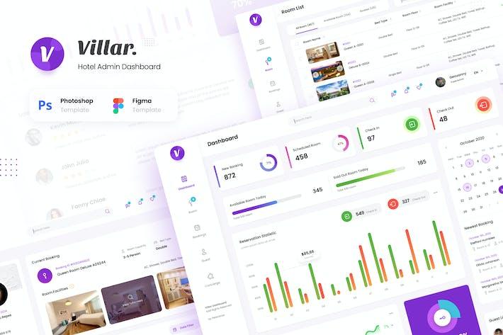 Thumbnail for Villar - Hotel Booking Admin Dashboard