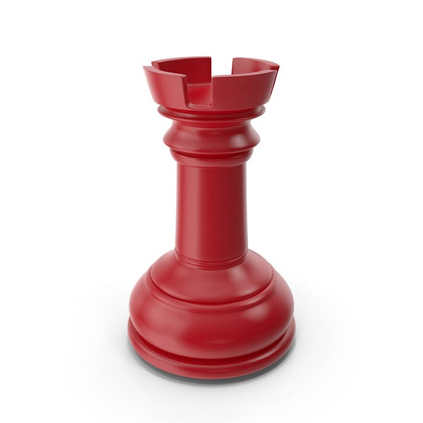 Chess Rook Red