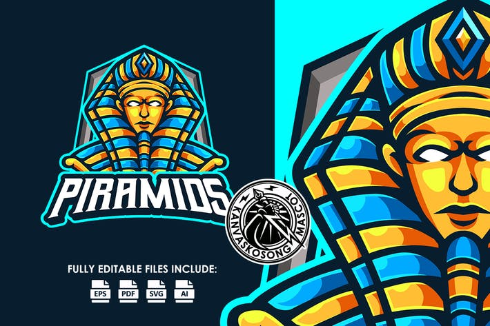 Pyramid King Esport Logo Template