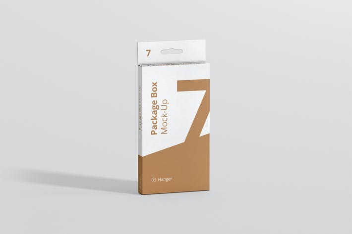 Thumbnail for Package Box Mockup - High Rectangle with Hanger