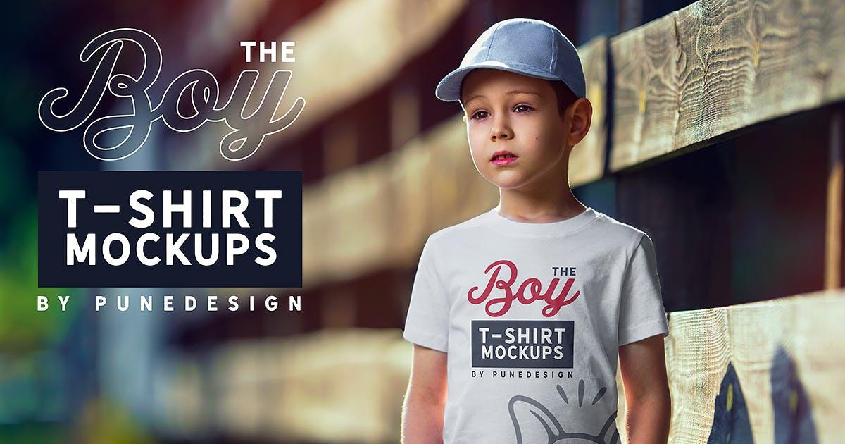 Download Boy T-Shirt Mock-Up Set by punedesign