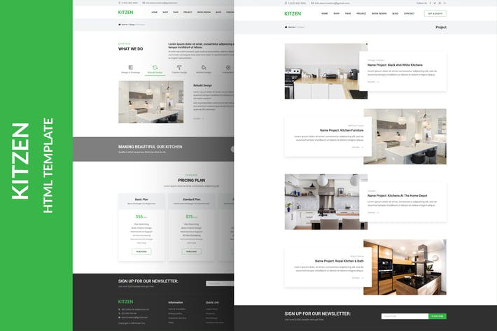 Thumbnail for Kitzen | Modern Kitchen HTML Template