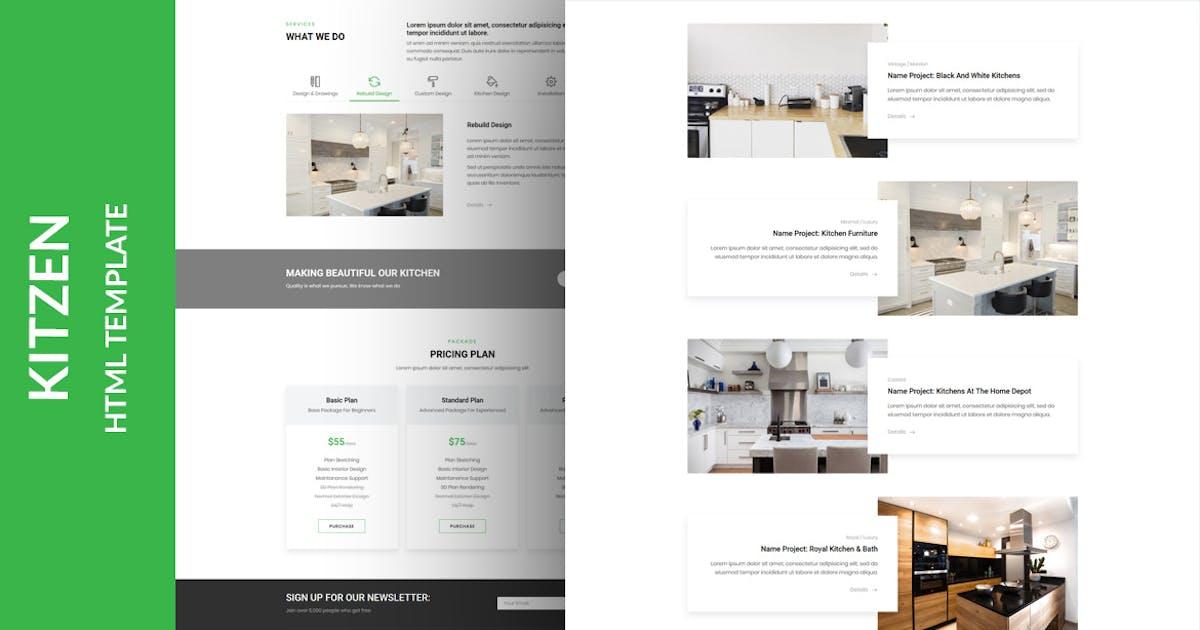 Download Kitzen   Modern Kitchen HTML Template by MarkhorThemes