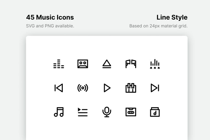 Thumbnail for Music Line Icons
