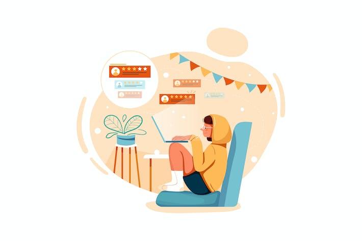 Thumbnail for Customer giving feedback Illustration