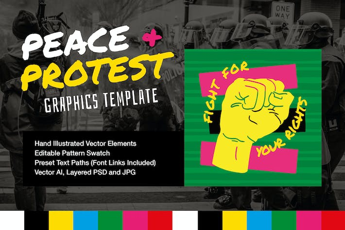 Thumbnail for Peace and Protest Slogan Template