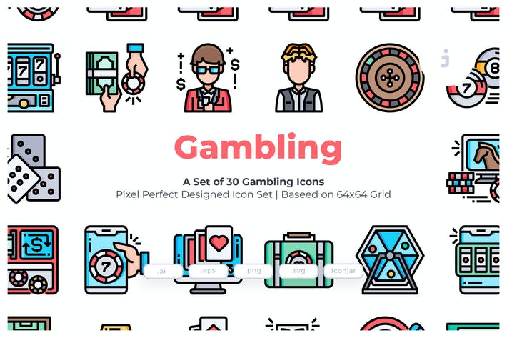 Thumbnail for 30 Gambling Icons