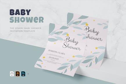 Starry   Baby Shower Invitation