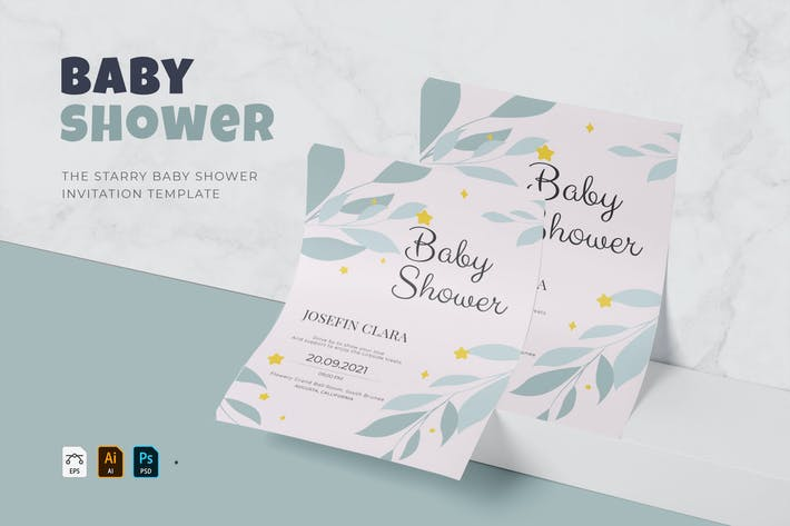 Thumbnail for Starry | Baby Shower Invitation