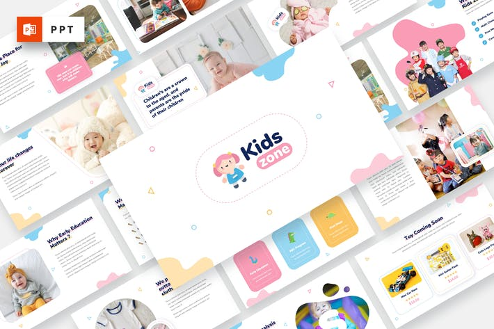 Thumbnail for Kids Zone - Kids & Baby Powerpoint Template