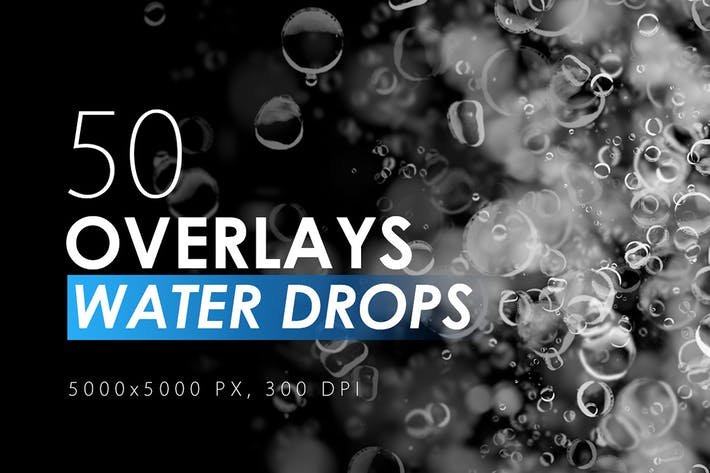 Thumbnail for 50 Water Drops Overlays