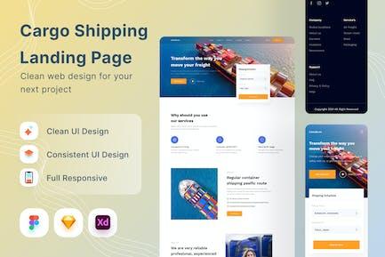 Cargo Shipping Landing Page
