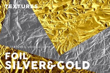Silber&Goldfolien-Texturen