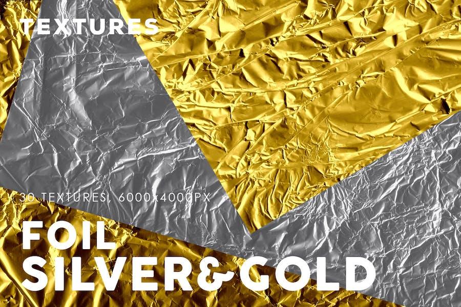 Silver&Gold Foil Textures