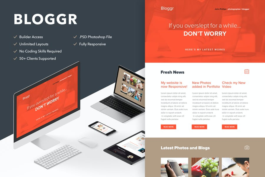 Bloggr - Responsive Email + Themebuilder Access