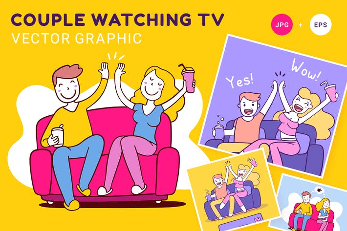 Thumbnail for Couple watching TV