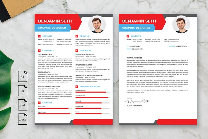 Thumbnail for Professional CV And Resume Template Seth